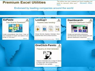 Premium excel utilities - EzPaste,Lookup ,Dashboard ,OneClic