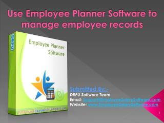 Use Employee Planner Software to manage employee records