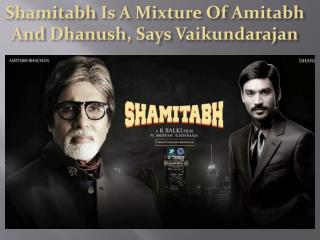 Shamitabh Is A Mixture Of Amitabh And Dhanush, Says Vaikunda