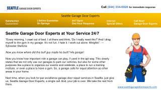 Garage Door Opener Repair Experts In Seattle