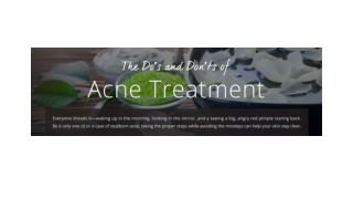 The Do's and Dont's of Acne