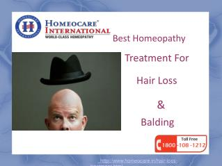 Homeopathy Treatment For Hair Loss & Balding