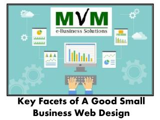 key facets of a good small business web design