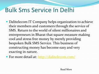 Bulk Sms Service In Delhi