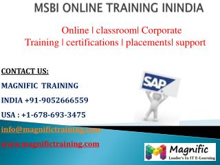 msbi online training classes in australia