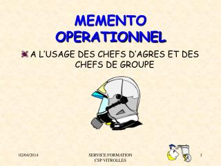 MEMENTO OPERATIONNEL