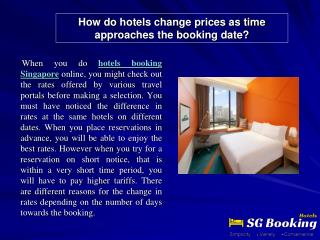 How do hotels change prices as time approaches the booking d