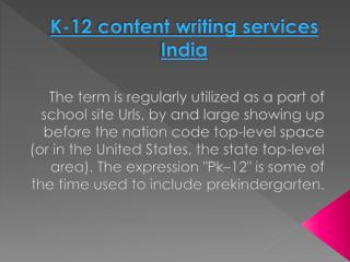 K-12 content writing services India