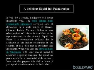 A delicious Squid Ink Pasta recipe