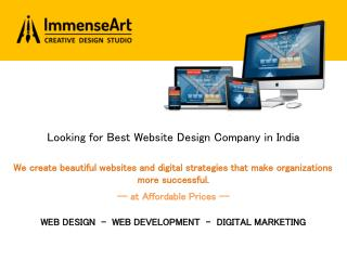 Best Affordable Website Design Company Chandigarh India