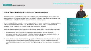 Follow These Simple Steps to Maintain Your Garage Door