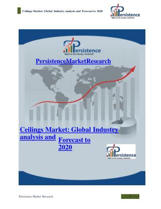 Ceilings Market: Global Industry analysis and Forecast to 20