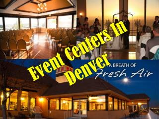 Event Centers in Denver