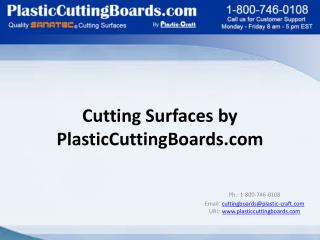 Cutting Surfaces by  PlasticCuttingBoards.com