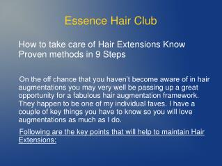 How to take care of Hair Extensions Know Proven methods in 9