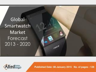Global Smartwatch Market (Product, Application, Operating Sy