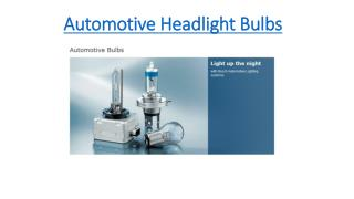 Automotive Headlight Bulbs