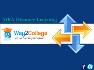 MBA distance learning- Way2College