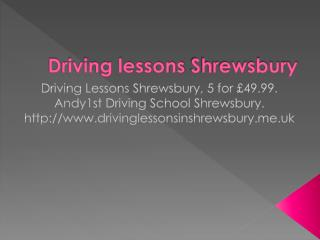 Driving lessons Shrewsbury | Driving school Shrewsbury