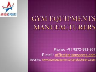 Gym, Fitness Exercise, Health Club Equipment Manufacturer in