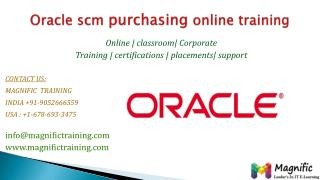 Oracle scm purchasing online training in australia