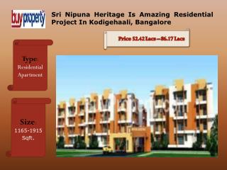 Sri Nipuna Heritage Is The Best Residential Project