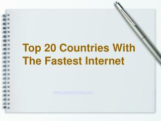 Top 20 Countries with Fast Internet - StatsMonkey