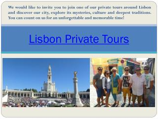 Private Lisbon Fatima Tour