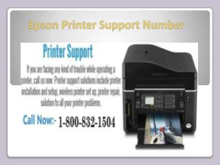 Epson Printer Support Number 1-800-832-1504 | Toll Free