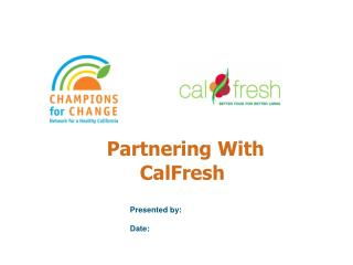 Partnering With CalFresh