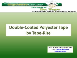 Double-Coated Polyester Tape by Tape-Rite