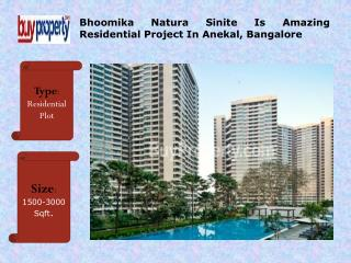 Best Bhoomika Natura Sinite Residential Project In Bangalore