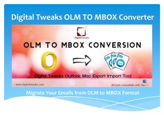 Free OLM to MBOX Converter by Digital Tweaks