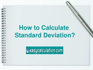 How to Calculate Standard Deviation - Easycalculation