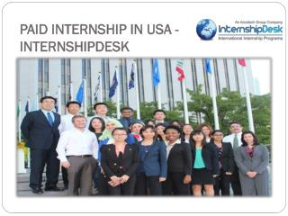 Paid Internship in USA | Paid Internship International Stude