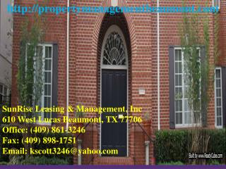 Real Estate Leasing Beaumont TX, Home Leasing Beaumont TX, A