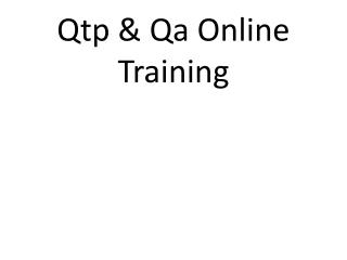 Qtp Online Training  Online Qtp Training