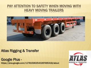 Moving trailers and its type in shipping industry
