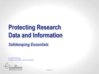 Protecting Research Data and Information