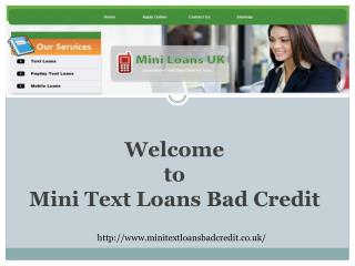 Mini Text Loans Bad Credit