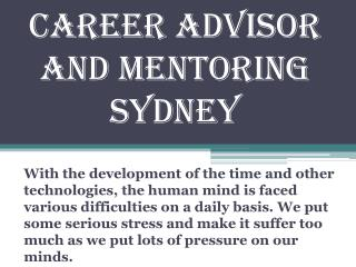 Career Advisor and Mentoring Sydney