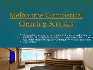 Commerical Cleaning Services Melbourne