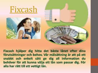 Fix cash