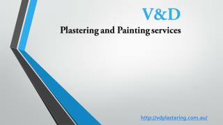 V&D plastering and painting service