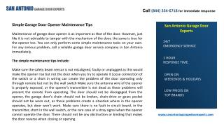 Simple Garage Door Opener Maintenance Tips