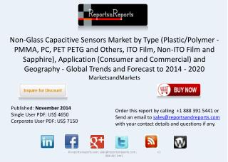 Non-Glass Capacitive Sensors Market Analysis and Forecasts
