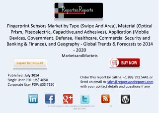 Fingerprint Sensors Market Size,Analysis & Forecasts to 2020