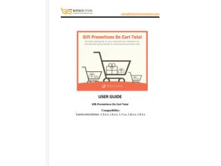 Gift Promotions On Cart Total - User Guide