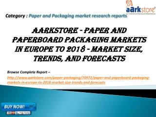 Aarkstore - Paper and Paperboard Packaging Markets in Europe