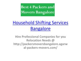 Shifting Procedure In Bangalore